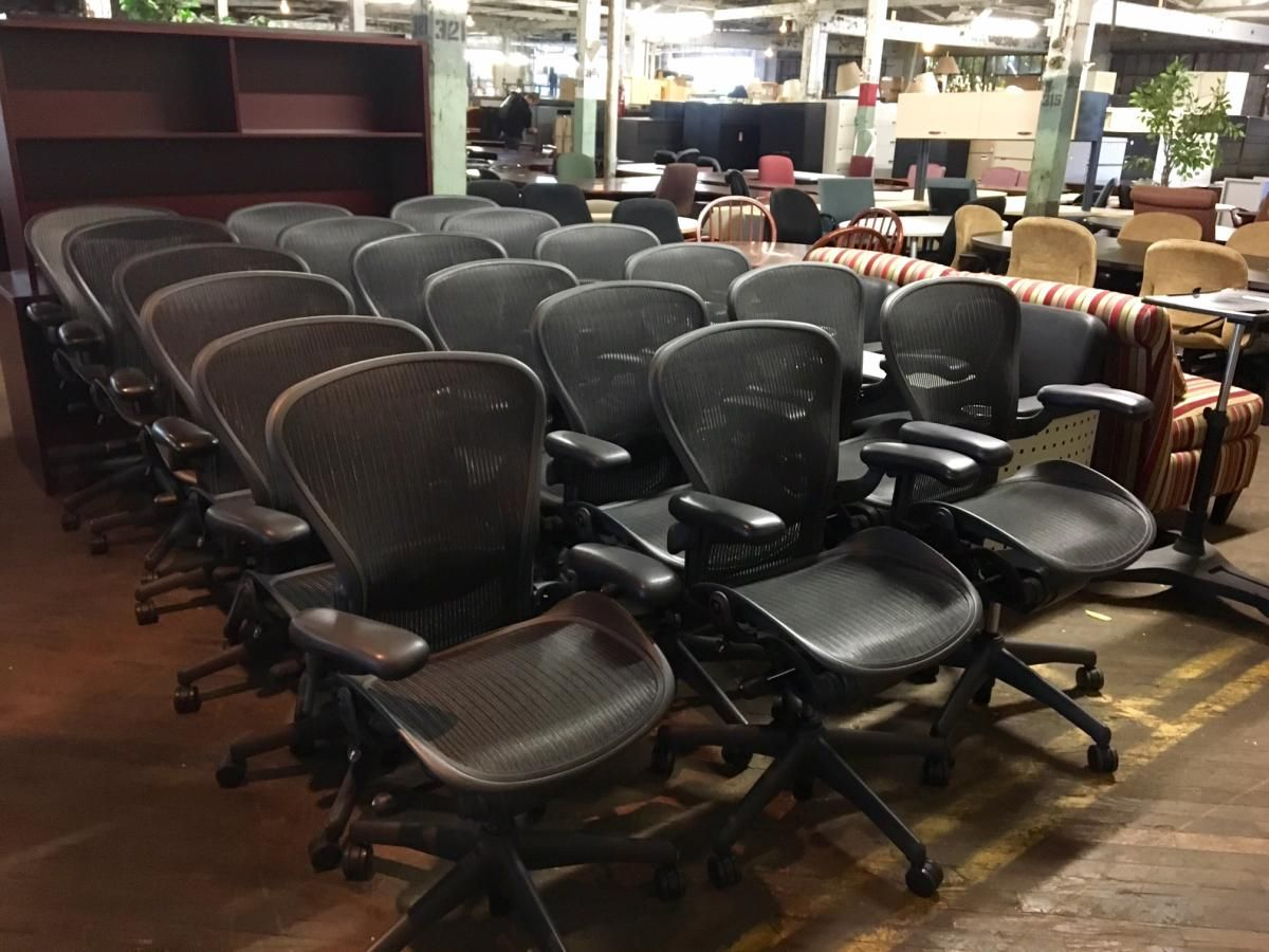 Used Herman Miller Aeron Chairs Chair Dining Room Chair