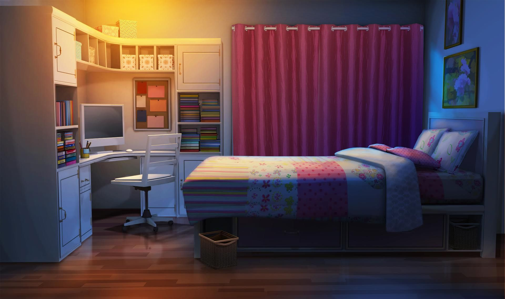 Dark Anime Bedroom Background In 2020 Living Room Background