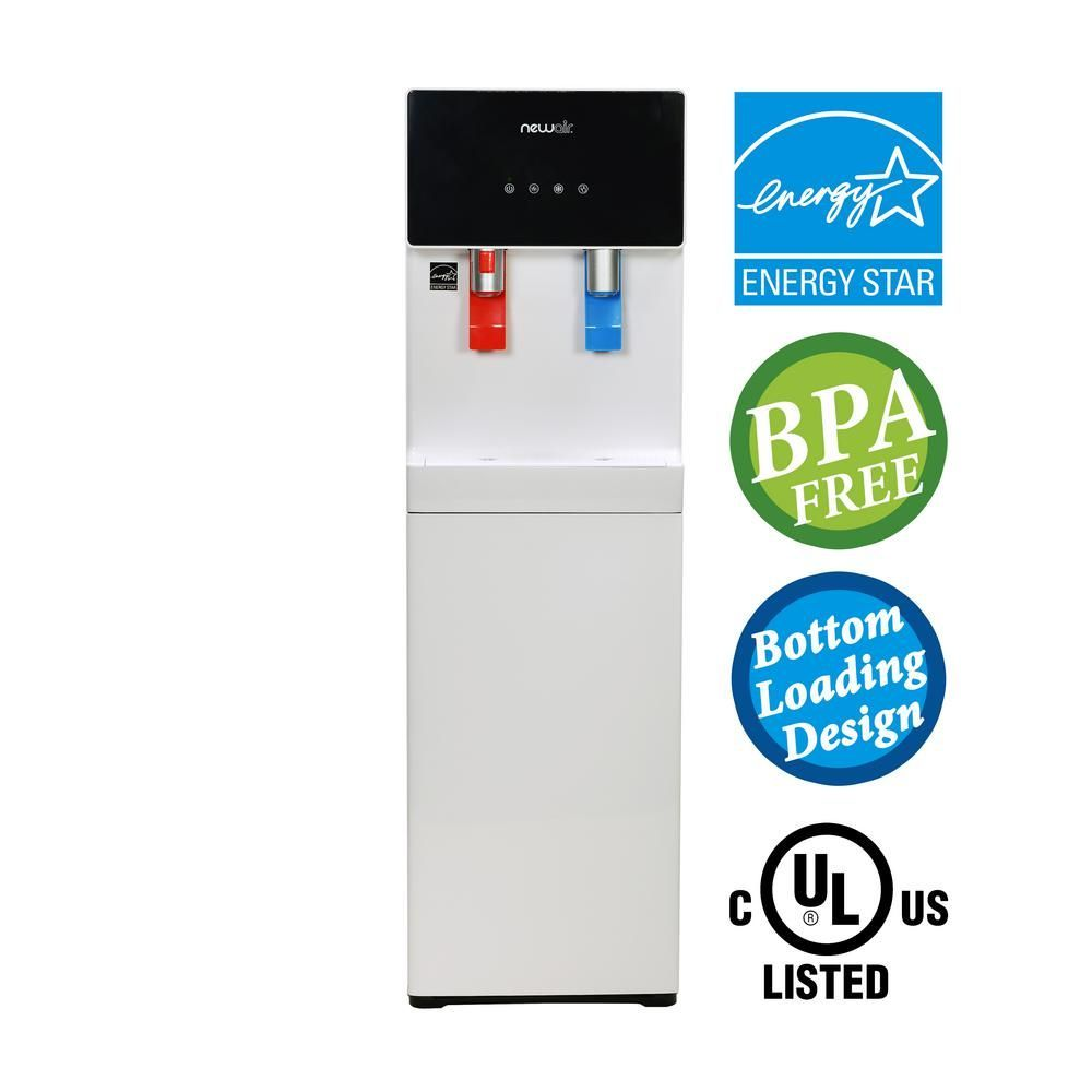 newair pure spring bpa free hot and cold bottom loading water