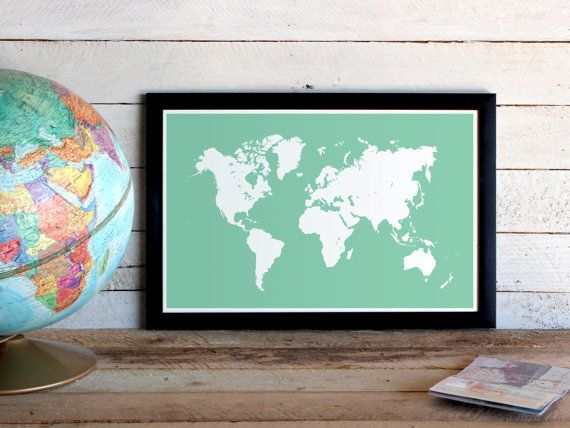 World map travel poster custom colors graphic poster print 11x17 world map travel poster graphic poster print 11x17 size custom colors world map gumiabroncs Images