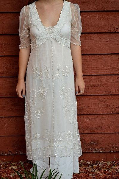 Titanic-style Embroidered NEW Gown by Nataya
