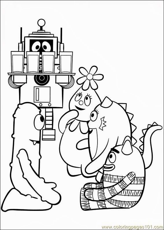Yo Gabba Gabba Pictures To Printable Pictures Yo Gabba Gabba Coloring Pages To Print Free Coloring Pa Yo Gabba Gabba Nativity Coloring Pages Coloring Pages
