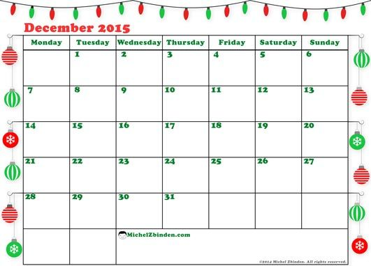 Printable December  Calendar Schedule Free To Print Christmas