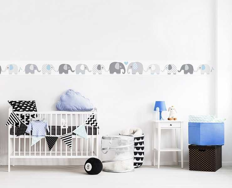 baby wandtattoo elefanten eine tolle kinderzimmer. Black Bedroom Furniture Sets. Home Design Ideas