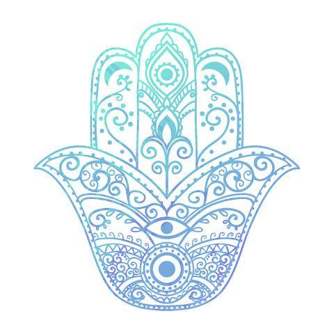 Spiritual Yoga Symbols And What They Mean Yoga Symbols Hamsa Hamsa Hand