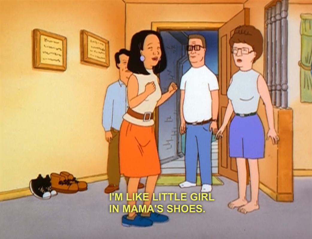 King of the Hill, Peggy Hill, big feet, Hank Hill | KOTH ...