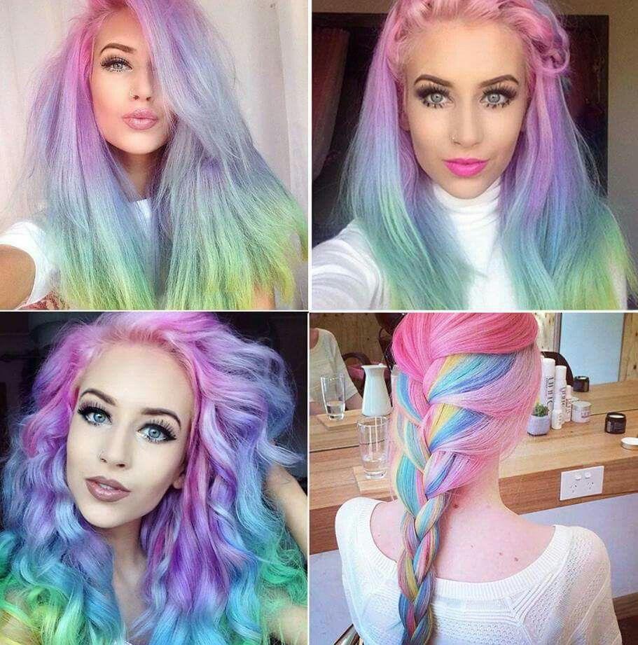 Love the colors hair pinterest amazing hair rainbow hair