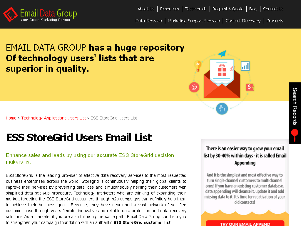 Pin by Email Data on ESS StoreGrid users lists Data