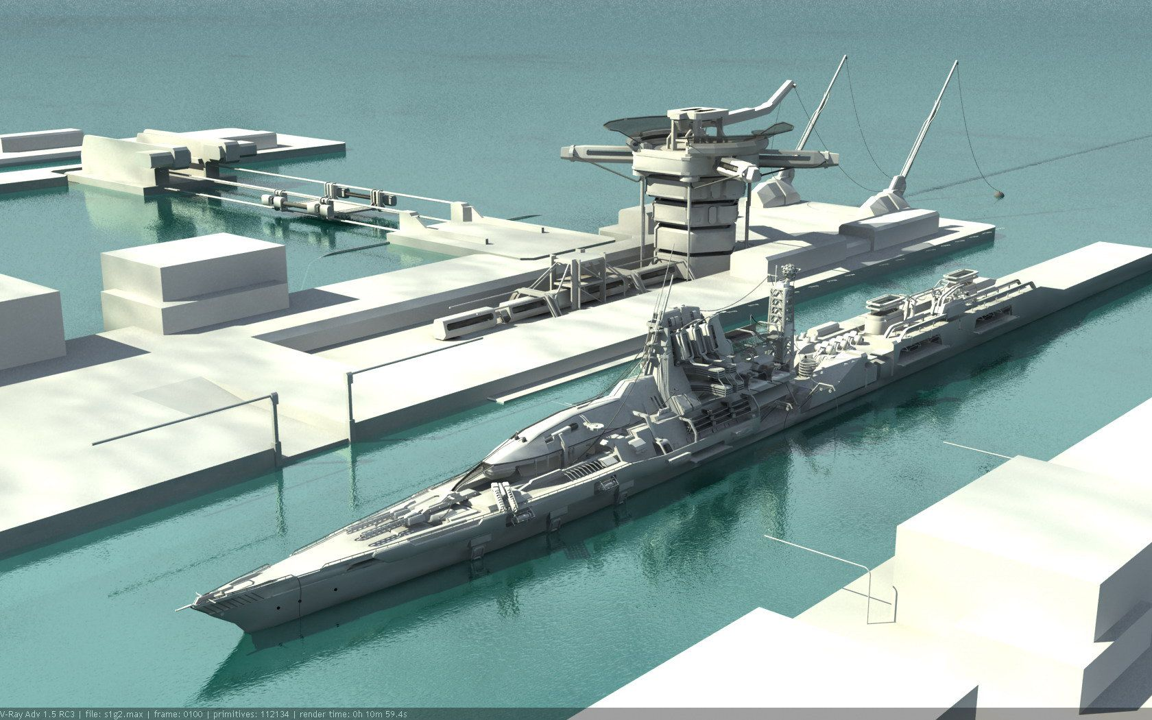 Research Ship WIP3 by kheng | Concept ships, Navy ships ...