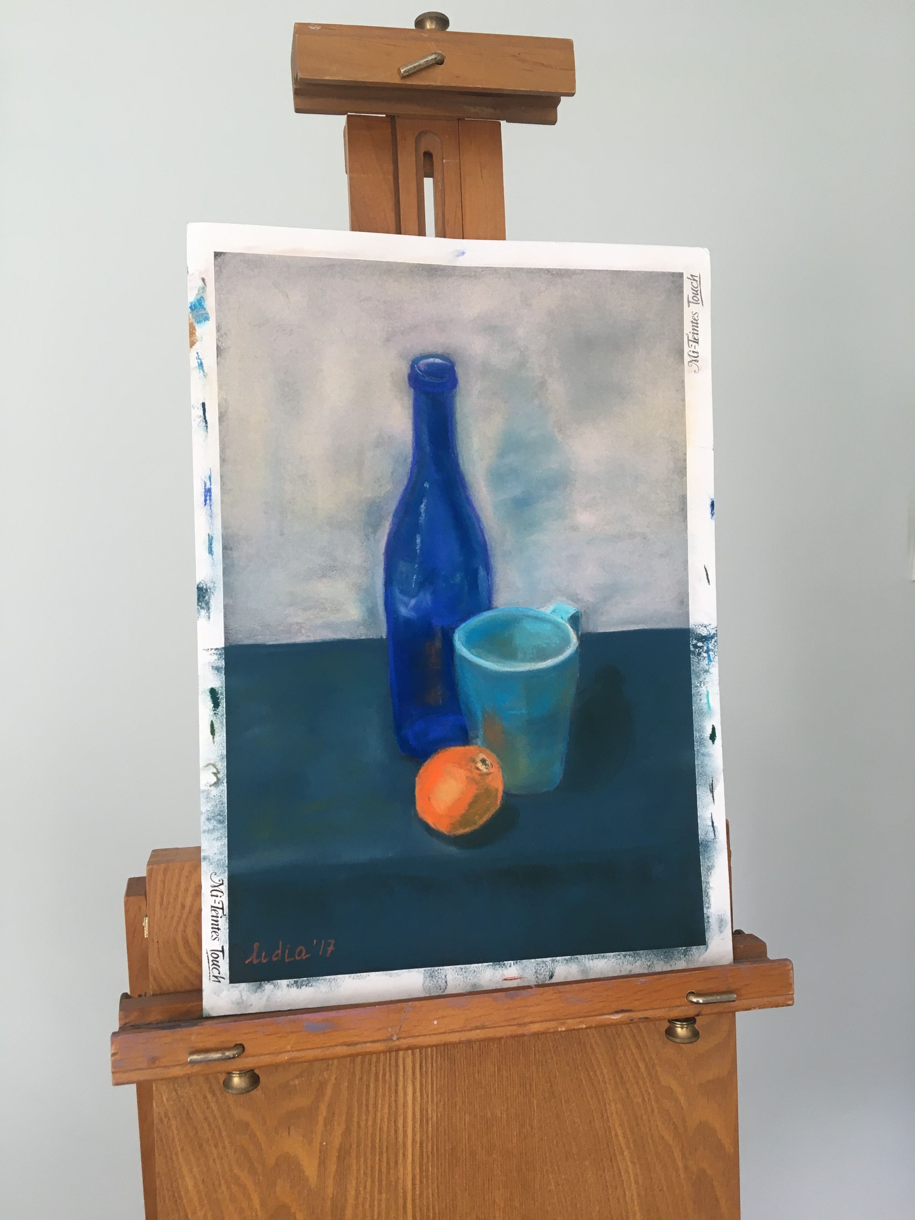 Original Art Work In Cezanne Style Blue Still Life Painting Etsy In 2020 Orange Art Still Life Painting Small Paintings