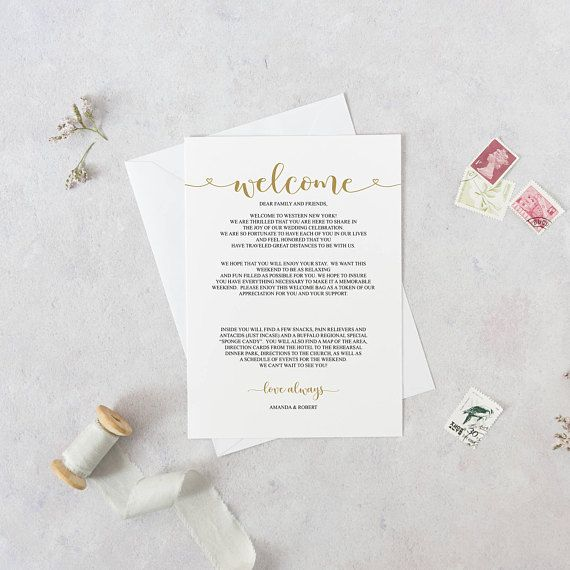 wedding welcome letter template wedding itinerary welcome itinerary welcome bag note printable