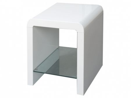 Atlantis clarus white gloss lamp table telephone table lounge atlantis clarus white gloss lamp table mozeypictures Images