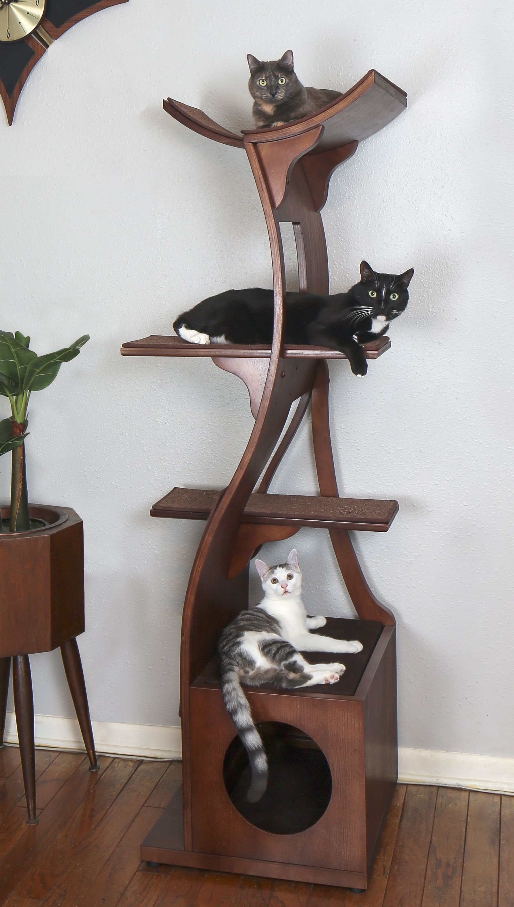 Lotus Cat Tower A Zen Cat Tree of Modern Design The