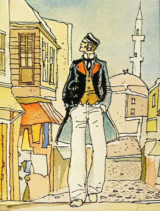 Hugo Pratt Illustrations De Bande Dessinee Comic Strips Personnages Bd