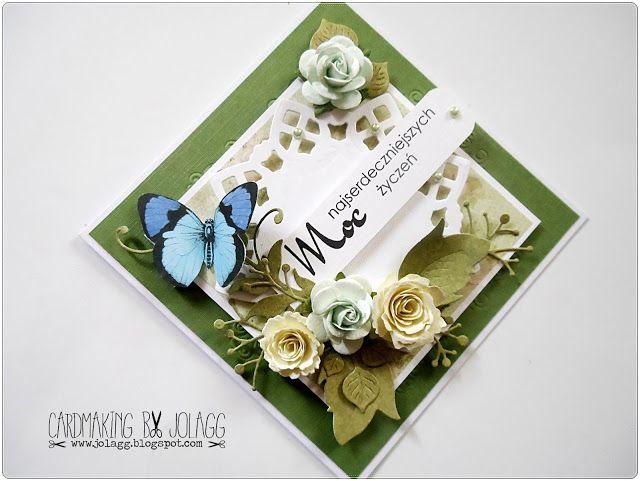 Cardmaking by jolagg: Zestaw kartek urodzinowo-imieninowych i freebie