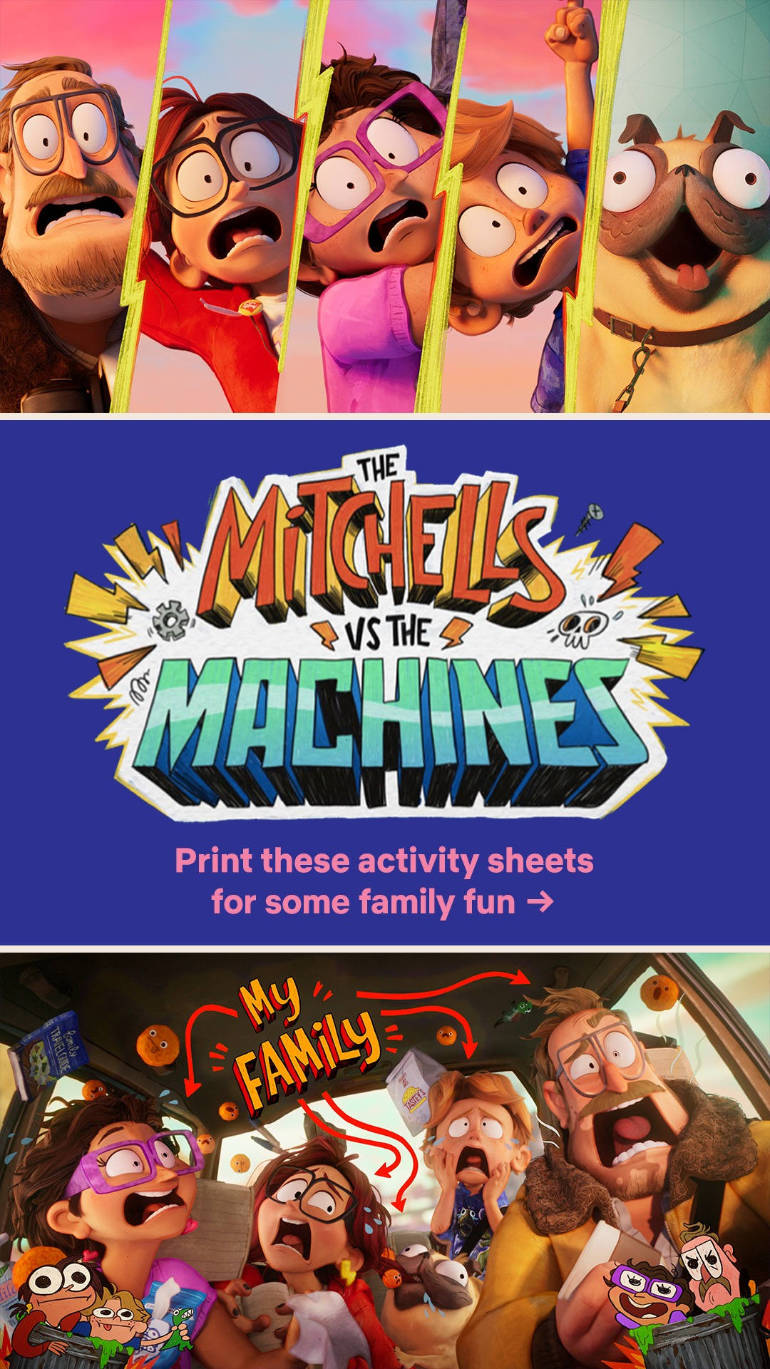 The Mitchells vs. The Machines Activity Sheets
