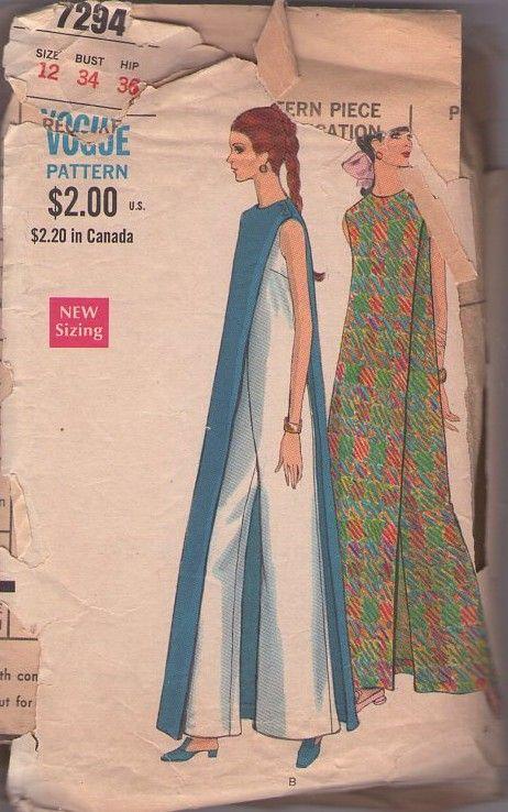 Vogue 7294 Vintage 60\'s Sewing Pattern The COOLEST Mod Op Art ...