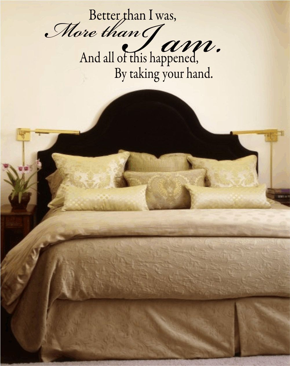 Wall decal quote better than i was more than i am vinyl wall decal