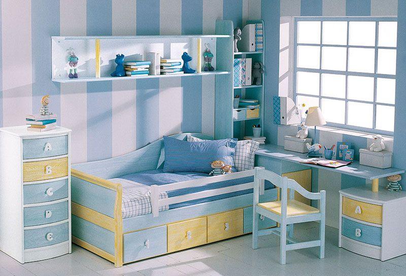 Decoracion dormitorios infantiles peque os dise o de for Disenos de cuartos pequenos