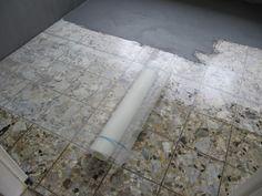 Fußboden In Beton ~ Alten fussboden mit beton cire überarbeiten badezimmer