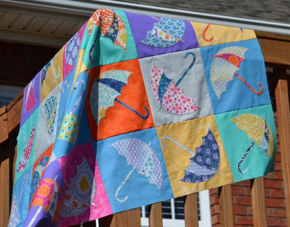 Happy Dance Umbrellas Quilt Kit New Kit Available At Around The