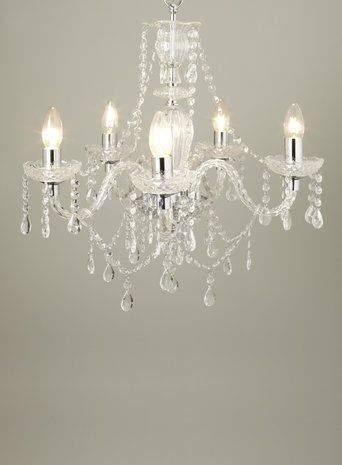 Chrome bryony 5 light chandelier lamps and lighting pinterest bryony 5 light chandelier chandeliers ceiling lights home lighting bhs aloadofball Choice Image