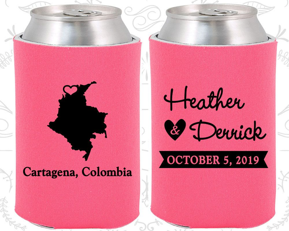 Colombia Wedding Gifts, Coolies, Destination Wedding Favors ...