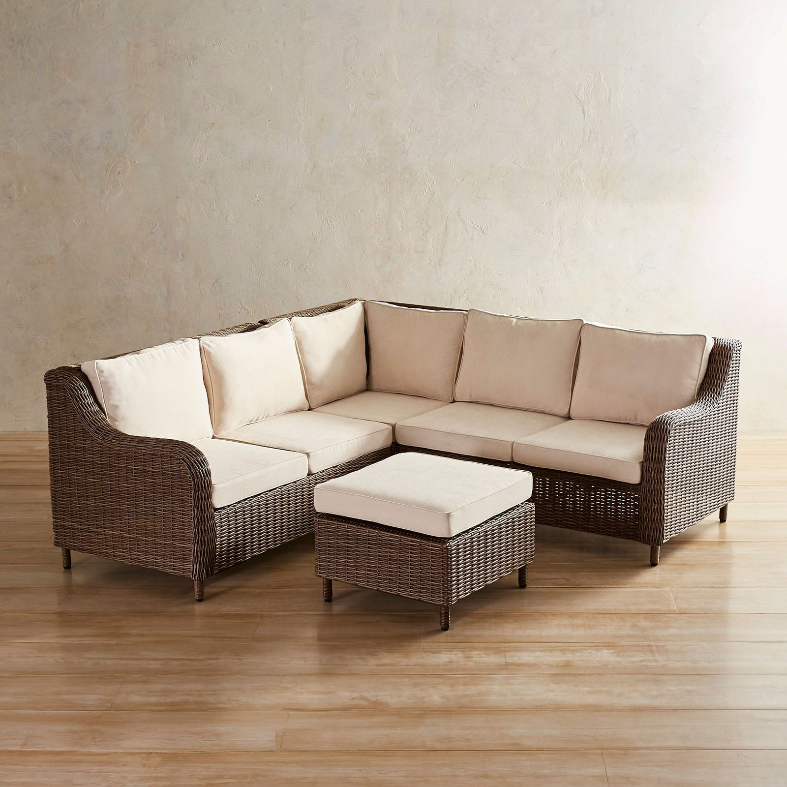 Crestview Espresso 4 Piece Sectional - Pier 1 Imports