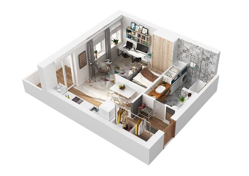 jóóóóó 40 m2 Floorplan Pinterest - plan maison 3d gratuit
