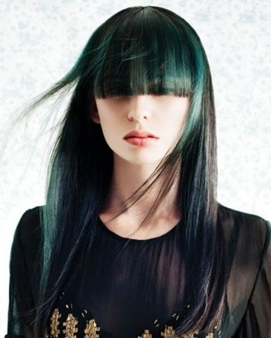 Black hair and green highlights 2014 hairstyles 2014 for women hair coloring black hair and green highlights 2014 pmusecretfo Gallery