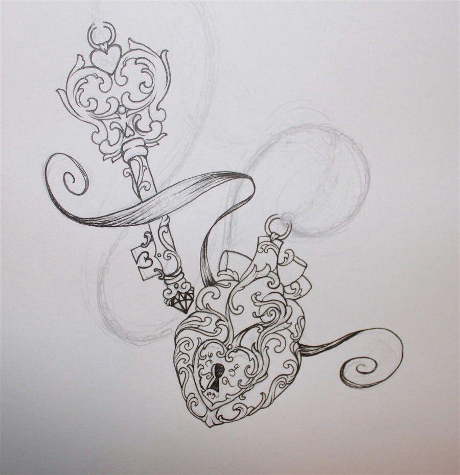 Rose Lock And Key Drawings Wwwtopsimagescom