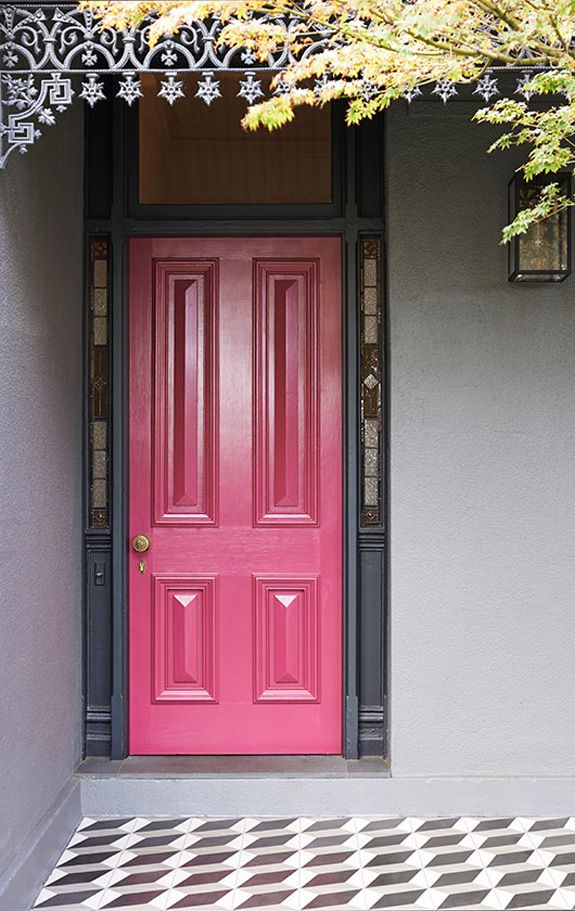 O Residence   Desire To Inspire   Desiretoinspire.net   Bright Pink Front  Door