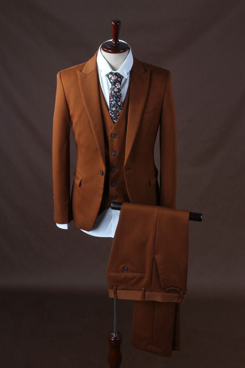 5ea8cb3668 Click to Buy << 2017 latest coat pant design Dark Brown Formal costume  homme Men suits For best Man suit Tuxedo blazer wedding jacket+pant+vest  #Affiliate