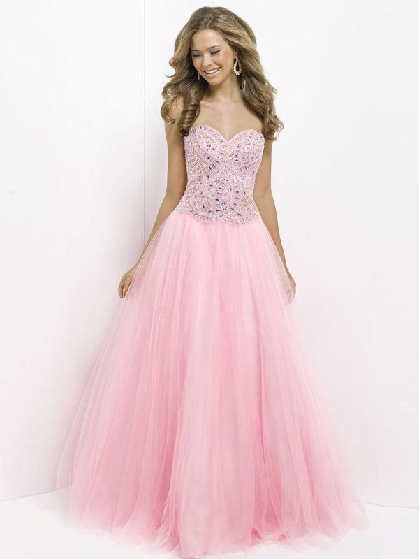 2015 Style A-line Sweetheart Floor-length Tulle Prom Dresses/Evening ...