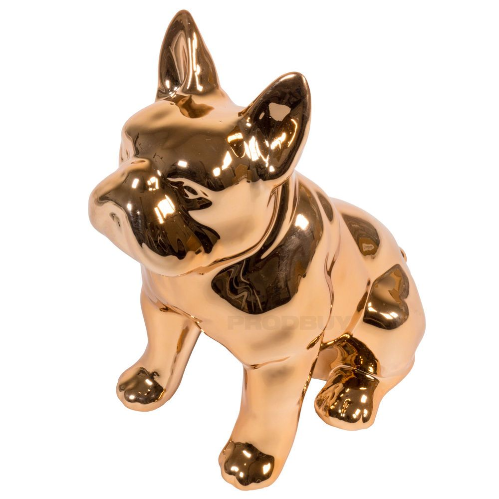 Copper Sitting French Bulldog Ornament Figurine Statue Cute Dog ...