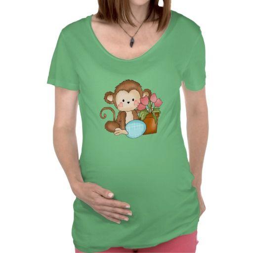 Easter Monkey Maternity t-shirt