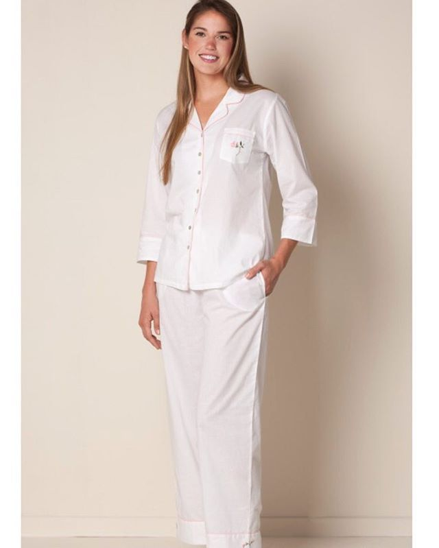 b6c3d3f2dd51 Unwind after a long day of work in comfy cotton PJs from  JacarandaLiving.  Browse all sleepwear styles via link in bio.  pajamas  cotton  embroidery    ...