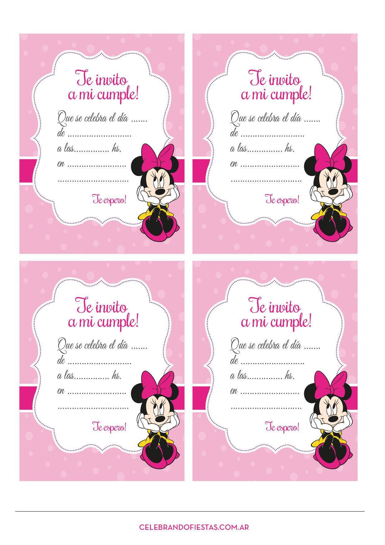 Pin De Kren G Porras En Tema Mickey Minnie
