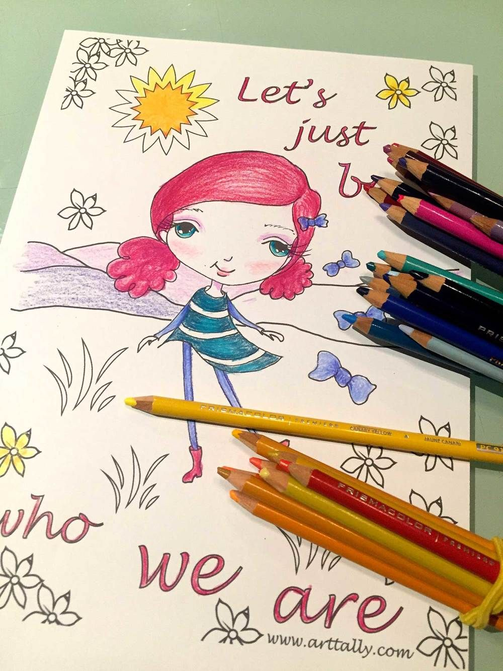Free Colouring Sheet Whimsical Art Whimsical Girl Coloring Sheet Free Whimsical Art Free Coloring Sheets Watercolor Class