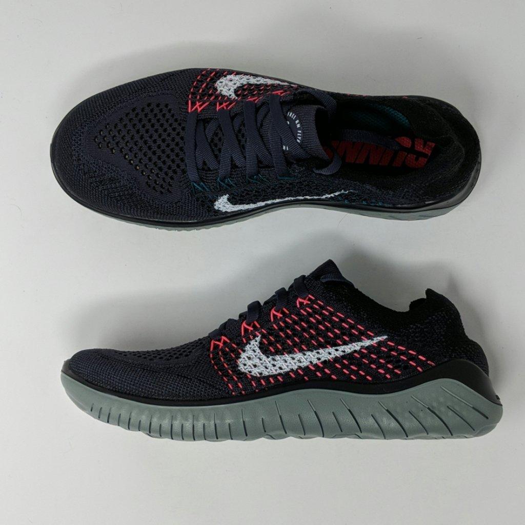 Nike Wmns Free Rn Flyknit 2018 Gridiron Black 942839 004 Women S Runni Lonesole Womens Running Shoes Nike Running Shoes Women Nike