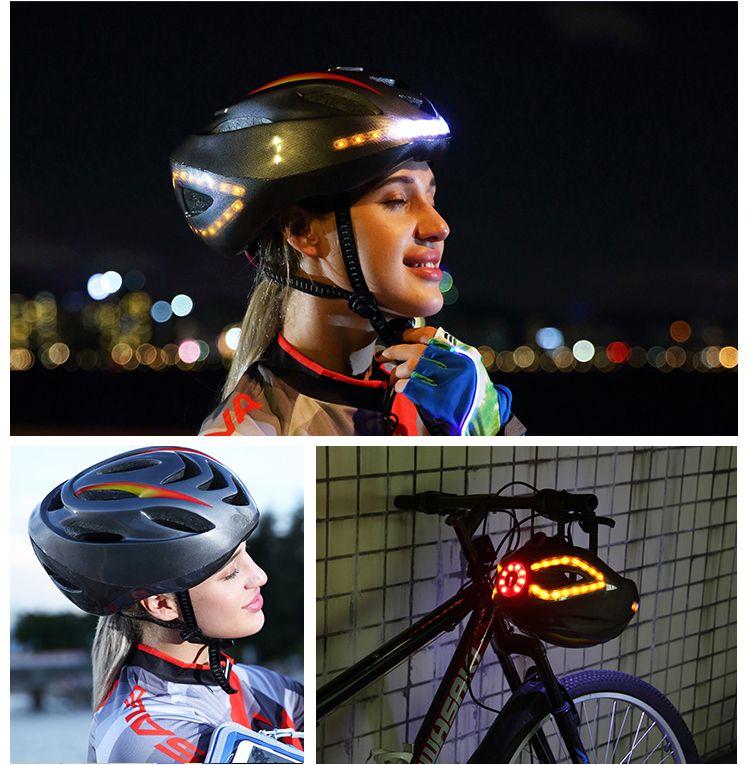 Sava Bicycle Helmet Bike Helmet Night Cycling Safe Helmet With