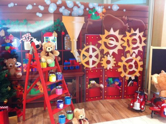 Santas Workshop Office Christmas Decorations Santas Workshop