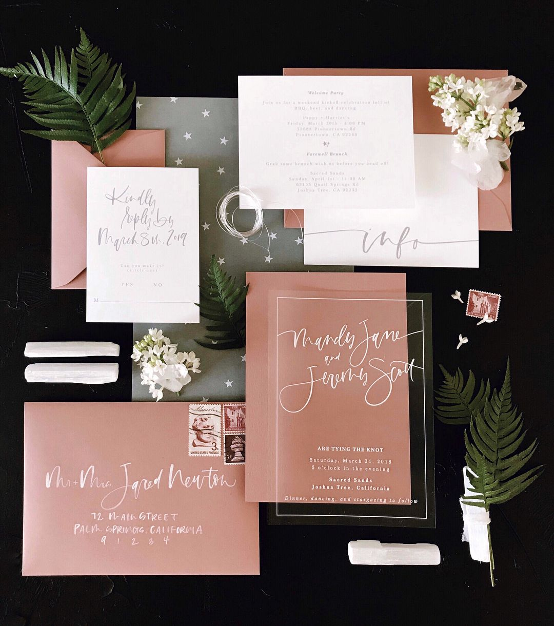 All of our favorite things wrapped up in one suite clear invite