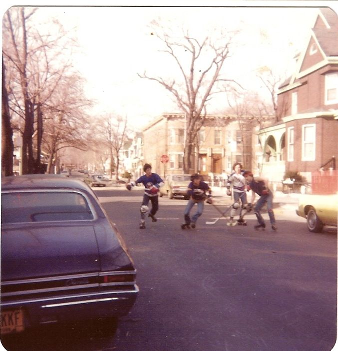 Kids Playing Roller Hockey In The Street Courtesy Of Www Tapeshare Com Ashford Html Hockey Kids Playing Vintage Photography Childhood Memories