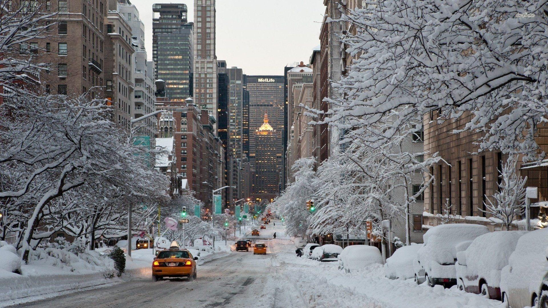 Обои snow, winter. Города foto 11