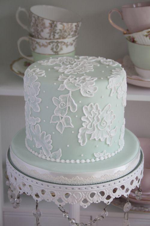 Pretty brush embroidery cake.