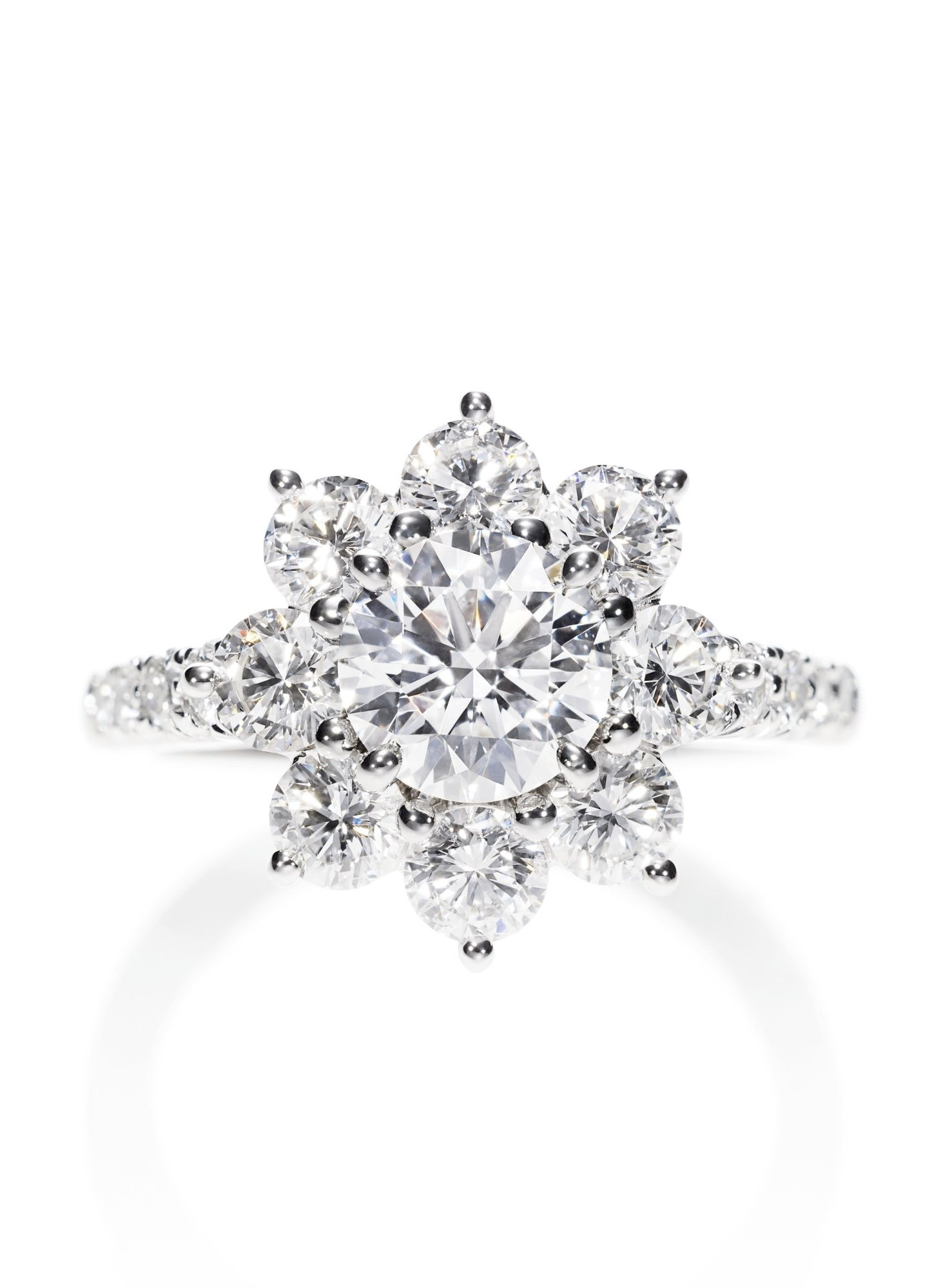 Harry Winston Sunflower Diamond Ring