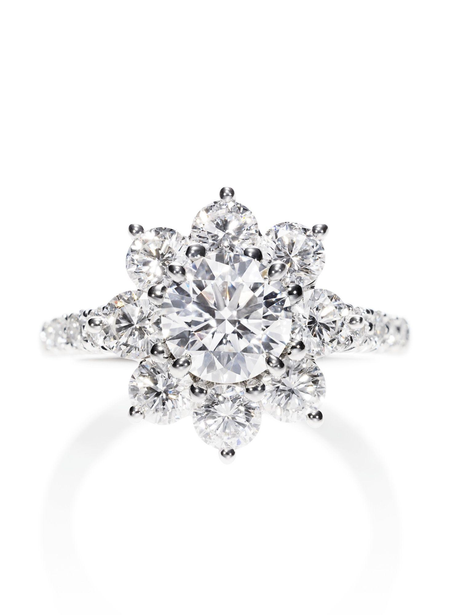 Harry Winston Sunflower Diamond Ring Sunflower ring, Diamond