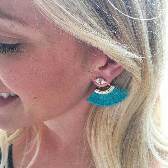 Lotus Tassel Earrings