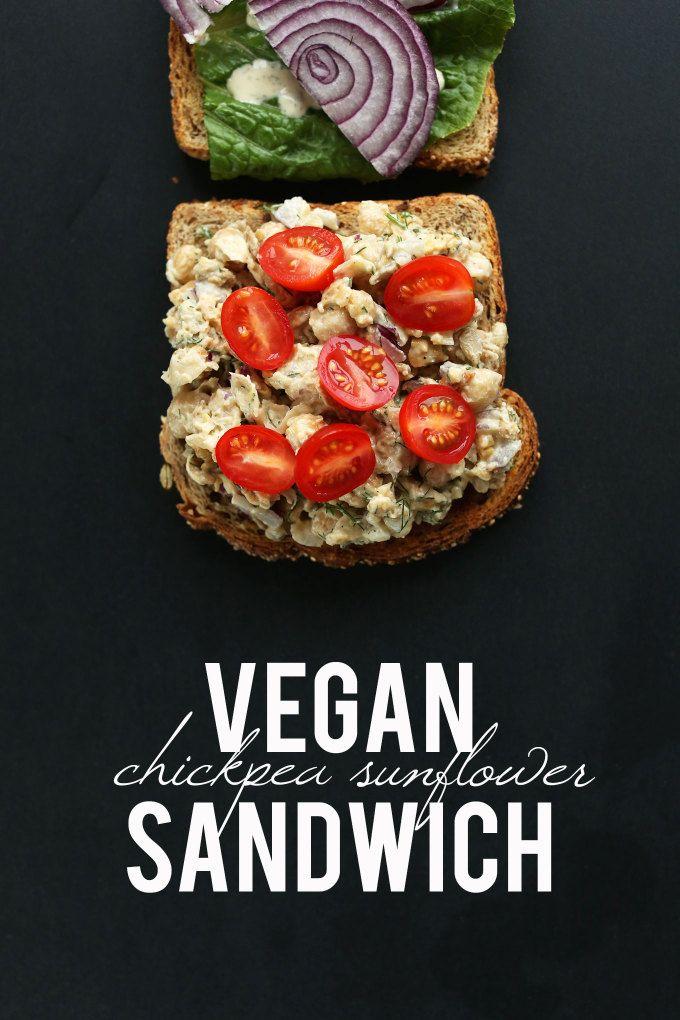 Sandwich #vegan au pois chiche et graines de tournesol - Chickpea Sunflower Sandwich